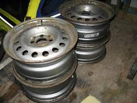 """4 - 14"""" x 5.5"""" Steel Wheels/Rims"""