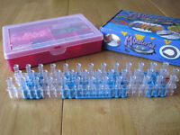 Loom Bands: Loom, Hook, Monster Tail, Bands, Charms, Clips & Storage Box