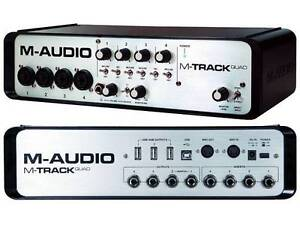 M AUDIO M TRACK QUAD 4 CHANNEL AUDIO USB INTERFACE 24-Bit/96Khz Sydney City Inner Sydney Preview