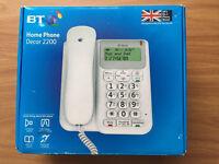 Brand new BT Landline Phone: Home Phone Decor 2200 - white - Bargain price.💙