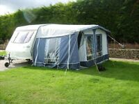 Suncamp No6 Awning for caravan blue/Grey