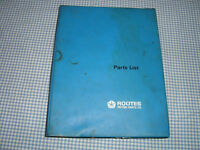 Rootes Motors Hillman Minx and Singer Gazelle series I-IIIC Parts List publication part 6601435