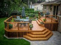 Deck, siding, fence, steps, rails building and repair