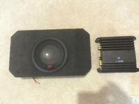"Alpine Type R 10"" and 500 Watt Alpine AMP"
