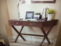 Whalen Solid Wood Computer Desk with USB Charger(New Sealed Box)