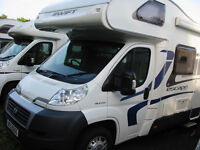 NEARLY NEW FAMILY 6-BERTH MOTORHOME