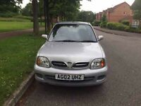 Nissan Micra Twister 1.0 3 Door Petrol Manual 2002. 55k low millage 1 year mot