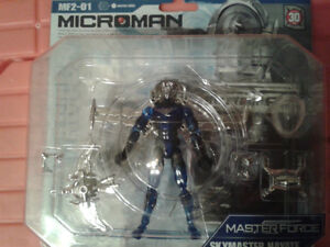 4 Very Rare Microman Master Force collectible 2004 series