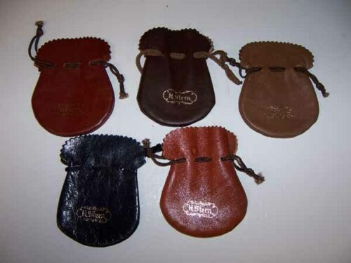 H. STERN Jewelers Leather Drawstring Jewel Earing Pouch Bag Satchell LOT/5 *NEW*