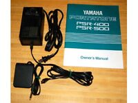 Yamaha PSR 500 Digital Keyboard with stand and original manual