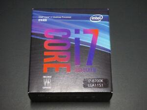 NEW/SEALED Intel Core i7 8700K Coffee Lake 6-Core CPU