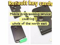 Renault key card replacement remote keycard inc. Programming to your car. Key fob megane scenic clio