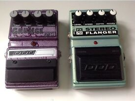 Two Dod s guitar pedals grunge fx69 & stereo flanger fx75c