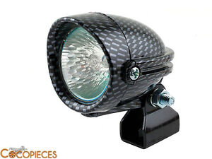 feu additionnel plaque phare cross halog ne carbone derbi gilera universel 50cc ebay. Black Bedroom Furniture Sets. Home Design Ideas