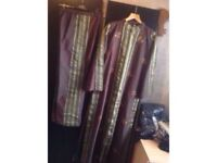 Brand new from Dubai silk suits 2 pieces dress & trousers size: M/L £20