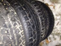 4 winter studded tires Uniroyal 215/65/16
