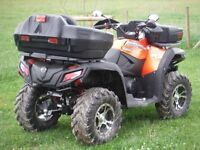 Quad bike Tool Box Rear, incorporates a rear light, back rest, easy to fit on to rack, lockable.