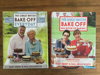 2 Great British Bake Off books Like new