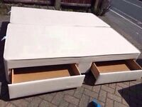 Super Kingsize bed base with drawers-Free delivery