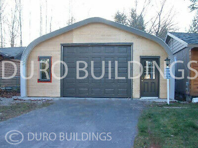 Durospan Steel 30x42x16 Metal Building Diy Home Kit Open Ends Factory Direct