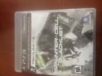 Playstation 3 Tom Clancy splinter cell blacklist