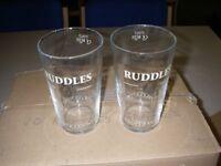 RUDDLES PROPER PINT GLASSES X 19