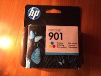 HP 901 colour ink cartridges