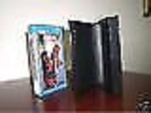 100 STANDARD VHS CASES WITH FULL SLEEVE , NO HUB, BLACK - PSV10 A GRADE