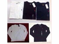 Ralph Lauren Polo Men's Crew Neck Custom Fit T-Shirt Long Sleeve