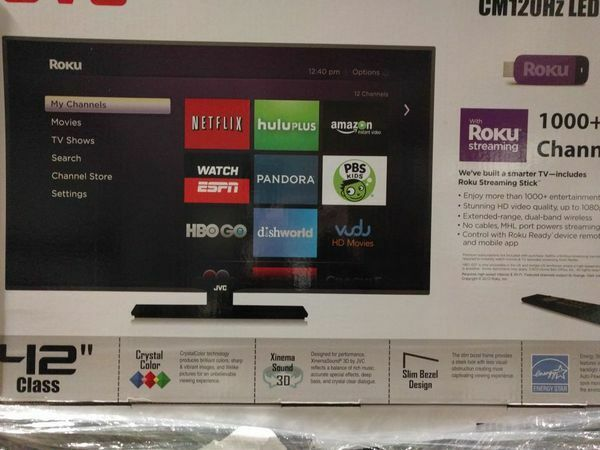 "JVC Emerald Series 42"" LED 1080p TV 120 Hz EM42FTR TV Broken"