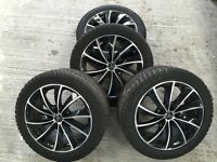 Wolfrace Alloy Wheels with Dunlop Winter Sport 245/45r18 96H tyres