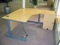 FREE office desk, with integral drawers. PICK UP only, will need van