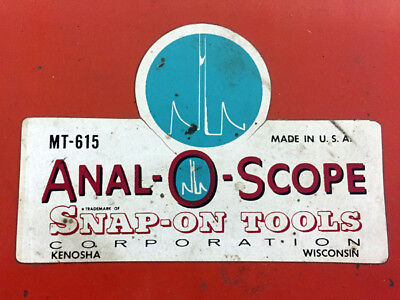 Sale Vintage Snap-on Anal-o-scope Mt-615 Oscilloscope With Stand Accessories
