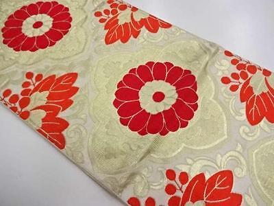 Antique Japanese Silk Obi for Kimono table runner home interior