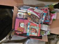 box of kids books and puzzles (girly) pending pick up