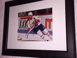 Denis Savard Autographed Montreal Canadiens 8x10 Framed