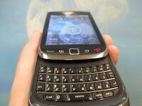 Unlocked blackberry torch with charger touch screen