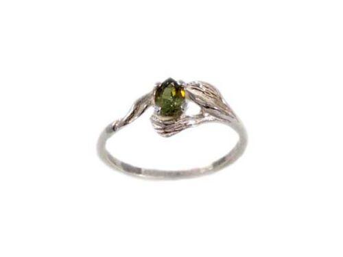 RARE Green Demantoid Ring Bible Gem of Noah Ark Aaron Antique 19thC Siberian