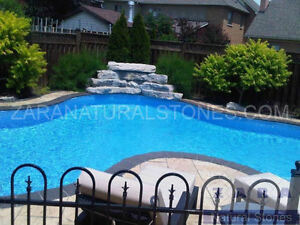 Kota Black Pool Coping Black Limestone Pool Coping Border Edge