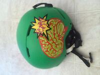 Snowboarding helmet, hand painted