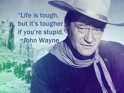 "John Wayne Quote refrigerator magnet 2 ""X3 1/2 """