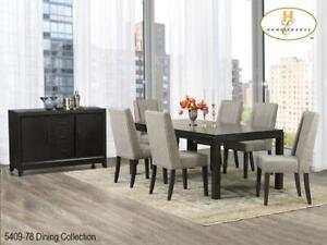 Dark Brown Dining Set with 6 chairs (MA766)