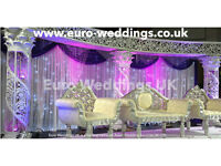 Asian Wedding Stages - Nottingham - Wedding Services, Decor, Backdrops, Mandaps, Furniture Hire