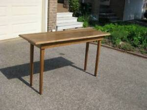 Reclaimed Pine Console / Hall Table, Mahogany Coffee Table