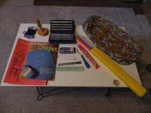Crochet Needles, Accessories & Bag + Knitting Needles