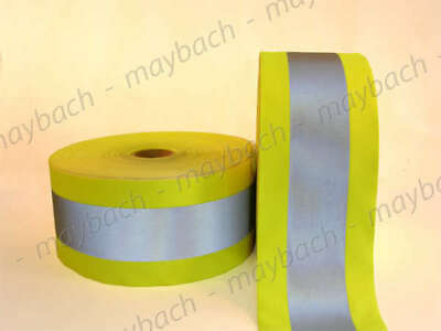 Reflective Material Fabric Tape Sew-on 4.5 Inch Lime