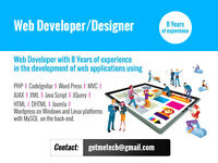 Web designer and developer looking for a Contract Work___