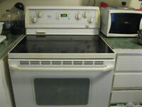 $ 180 Electric Range Stove with True Convection - White