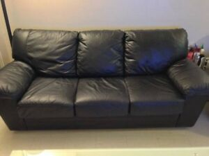 3 PC Leather Couch Set