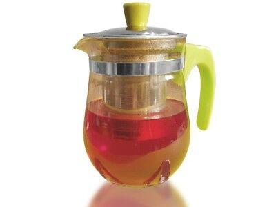 Glas Teekanne Kaffekanne 500ml + Metallsieb Teesieb Teeeinsatz Tee-Kanne Teapot  ()